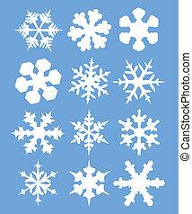 Snowflakes illustration - vector
