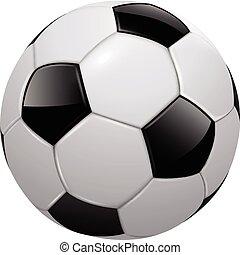 Soccer ball, football isolated, realistic vector illustration.