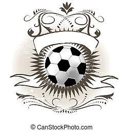 Soccer ball (football) on grunge background