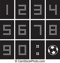 soccer ball score board number