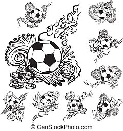 Soccer balls with embellishments