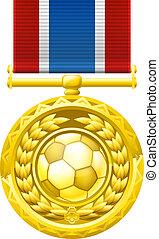 Soccer football medal