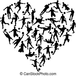 Soccer Silhouettes Heart