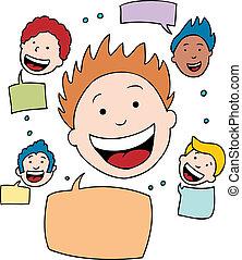 Social Network cartoon.