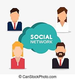 Social network design.