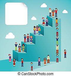 Social network people global growth