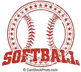 Softball Design - Vintage