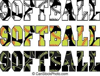 Softball Text With Softballs