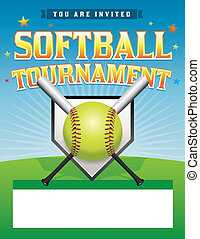 Softball Tournament Illustration