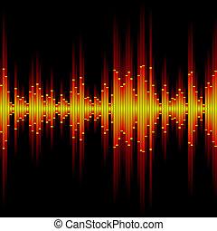 Seamless vector illustration of a sound waveform