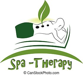 Spa massage logo