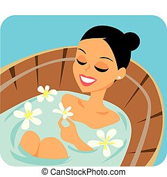 Spa Relaxation Illustration