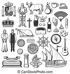Spain symbols, traditions, food and drinks