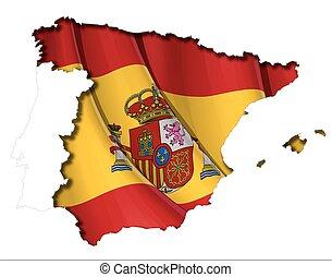 Spanish Map-Flag