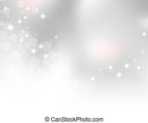 Soft light grey background with sparkling stars