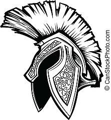 Vector Graphic of a Greek Spartan or Trojan Helmet