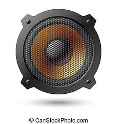 Vector illustration of speaker with grille