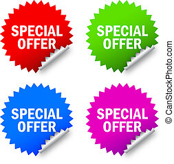 Vector special offer labels