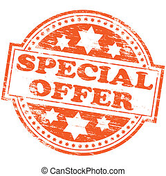"""Rubber stamp illustration showing """"SPECIAL OFFER"""" text"""