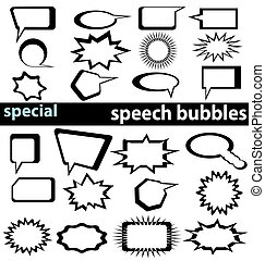 special speech bubbles