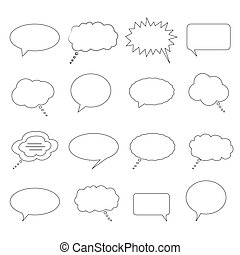 Speech, dialogue and thought bubbles