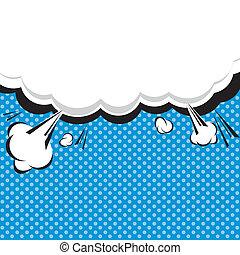 Comic Speech Bubble, Cartoon. illustrator EPS 10