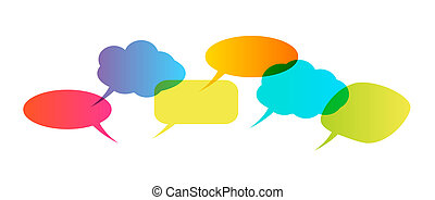 Speech bubbles isolated on white background. Vector illustration.