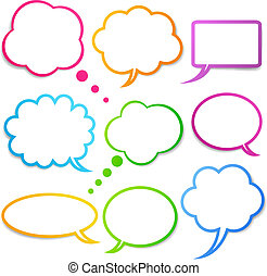 Speech bubbles vector set, EPS10