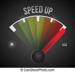 speed up marker. illustration design over a black background
