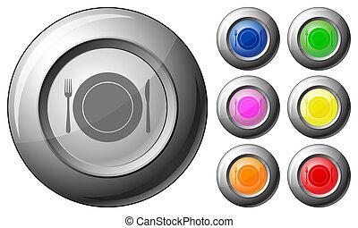 Sphere button dishware