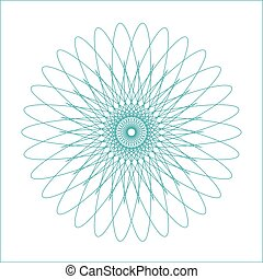 Spirograph geometric shape suitable for watermark - vector isolated on white background