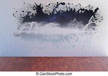 Splash showing energy wave