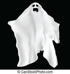Illustration of a spooky ghost