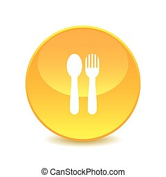 Spoon and fork , Spoon and fork Icon on white background , Vector.