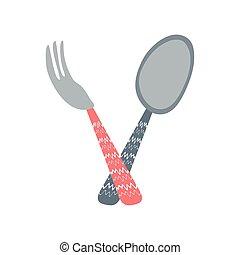 spoon fork cutlery
