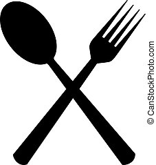 Spoon & Fork Icon In Flat Style Vector For Apps, UI, Websites. Black Icon Vector Illustration
