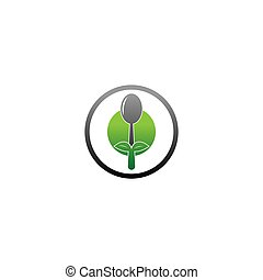 Spoon icon logo vector