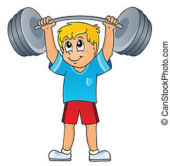 Sport and gym theme 7 - eps10 vector illustration.