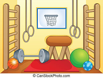 Sport and gym theme image 1 - eps10 vector illustration.