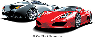 sport cars (my original design) isolated on the white background