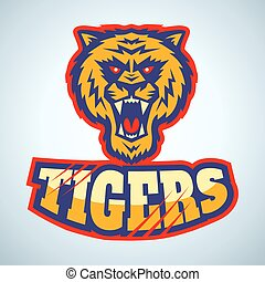 logo with angry tiger