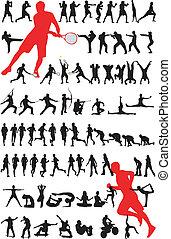sport silhouette - vector