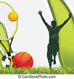 Sporting balls. Recreation background. Vector illustration