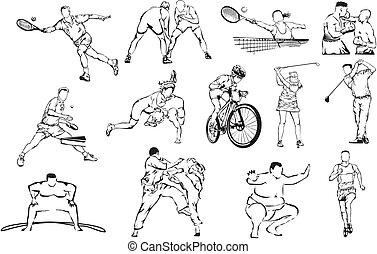 sports icons - individual