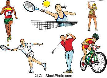 sports team figures - outdoor