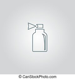Spray. Flat web icon or sign isolated on grey background. Collection modern trend concept design style vector illustration symbol