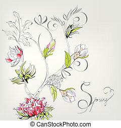 Spring decorative card