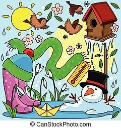 Spring illustration for children.
