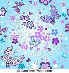 Spring seamless floral pattern