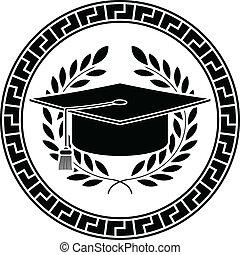 square academic cap. stencil
